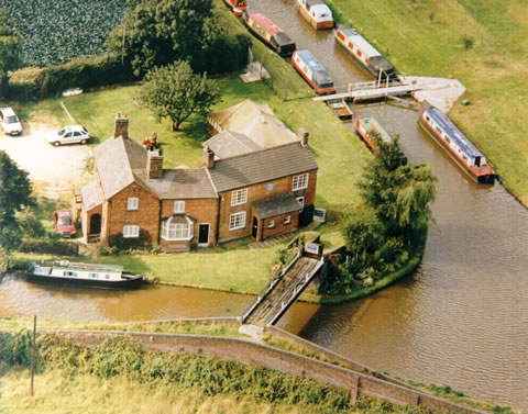 Huddlesford Junction from the air, showing the LCC clubhouse
